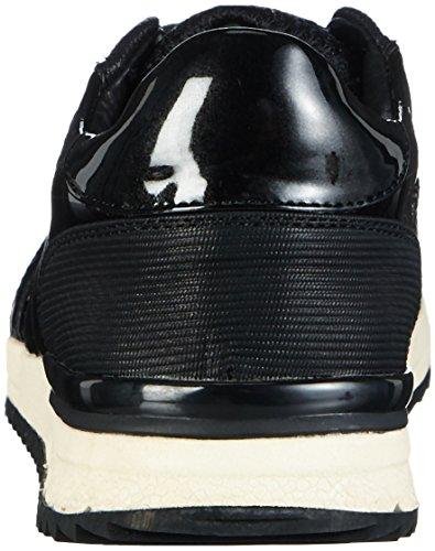 Buffalo 15bu0211 Patent Pu Mesh Pu, Baskets Basses femme Noir - Noir (01)