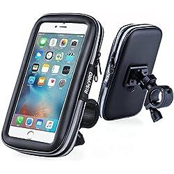 RISEPRO Support Vélo Téléphone Etanche, étanche étui Universel pour vélo et Support à Montage pour Moto Scooter pour Smartphone sous 5,7 Pouce IPHONE X / 8+ / 8 / 7+ / 7