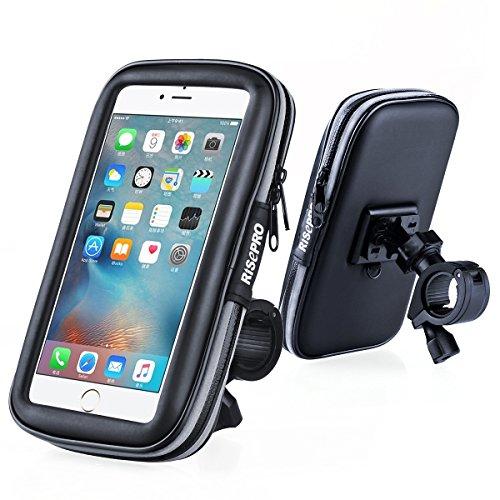 Vélo support de téléphone, Risepro® étanche étui universel pour vélo et support à montage pour moto résistant à la poussière pluie Neige iPhone 66S, 7, 7Plus