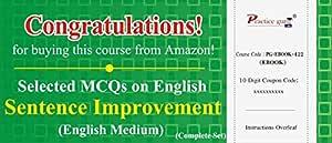 Practice Guru Selected MCQs on English: Sentence Improvement - Complete Set (Activation Key Card)