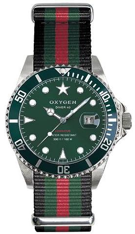 Oxygen Unisex-Armbanduhr Campo 40 Analog Quarz Nylon