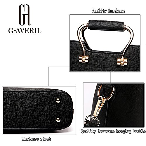 (G-AVERIL) PU pelle Donna borsa Designer Bag Fashion Borsa a Spalla Borse a Mano rosa1