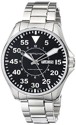Hamilton Men's H64715135 Khaki King Pilot Black Day Date Dial Watch