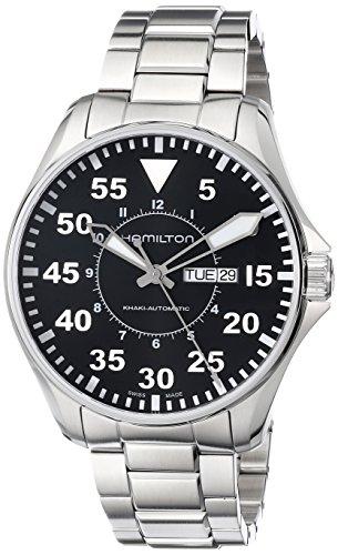 Hamilton H64715135 – Reloj para hombres, correa de acero color plateado