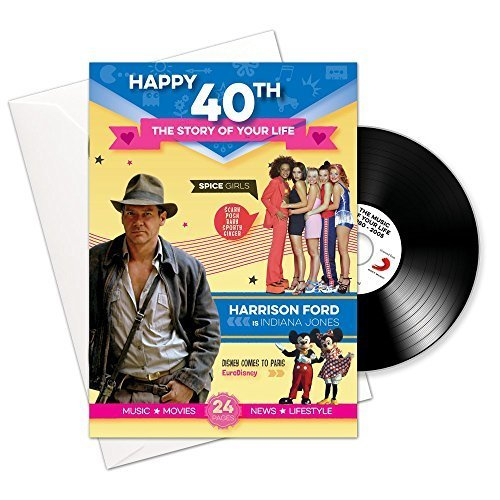 Happy 40th Story of Your Life 24 Page Booklet Greeting Card and Music Download Featuring 15 Hit Songs of Your Life