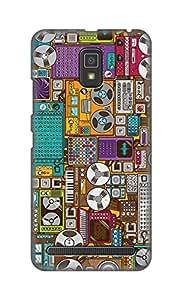 ZAPCASE Printed Back Cover for Lenovo A6600