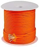 Trexi Paracord-Seil mit 250kg geprüfter Traglast | original 7-Strands-Core | US MIL-Spec 5040-H Type III | 100m Spule | 550 Cord | Fallschirmleine (Neon-Orange)