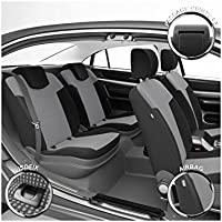 DBS 1011537 Fundas de asientos de Coche - A Medida - Acabado de coche de alta gama - Instalación rápida - Compatible Airbag - Isofix