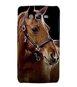 Fuson Designer Phone Back Case Cover Samsung Galaxy J5 (2015) :: Samsung Galaxy J5 Duos (2015 Model) :: Samsung Galaxy J5 J500F :: Samsung Galaxy J5 J500Fn J500G J500Y J500M ( Horse In Brown )