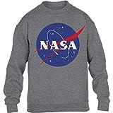 NASA Logo Galaxy Streetwear Outfit Maglione per Bambini e Ragazzi 12-14 Anni (152-164cm) Nero