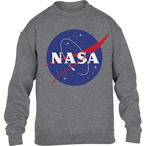 NASA Logo Galaxy Streetwear Outfit Maglione per Bambini e Ragazzi 12-14 Anni (152-164cm) Grigio