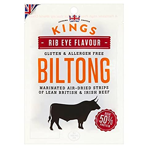 Kings Rib Eye Flavour Dried Meat Snack Biltong 300gm