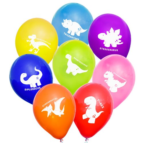 """Image of Uninflated 12"""" Cheeky Dinosaurs Balloons Asstd 8 Pack"""