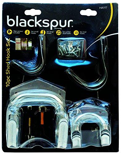 blackspur-bb-ha117-ensemble-de-crochets-pour-abri-de-jardin-10-pieces