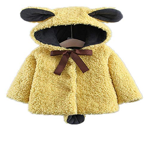 CZYTN Moda para bebé y niña, diseño de Oso de Invierno, con Capucha, Chaqueta de Invierno 1 110 cm...
