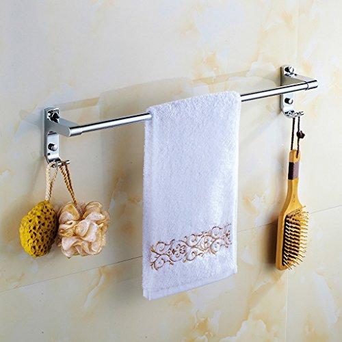 QFF Acier inoxydable serviette de bain serviette bar tringle accessoires porte-serviettes de bain mur crochet (taille : 40 cm)