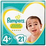 Pampers Premium Protection Windeln, Gr. 4+ Maxi Plus (10-15 kg), 1er Pack (1 x 21 Stück)