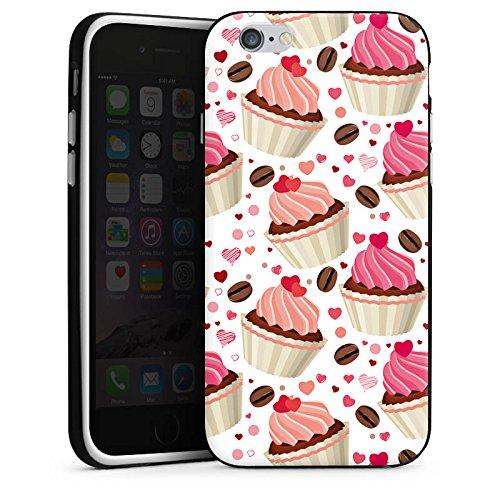Apple iPhone 4 Housse Étui Silicone Coque Protection Tarte Gâteau Café et gâteau Housse en silicone noir / blanc