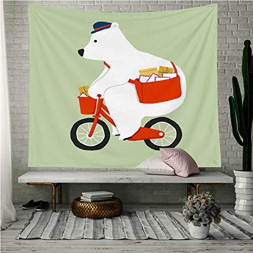 mmzki Animal Print Tapisserie Hintergrund Wandbehang Wohnzimmer G-952548 75 * 90cm