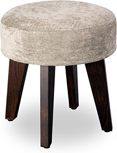 Joypop Kido Pouffe (Walnut Finish, Color SILVER)