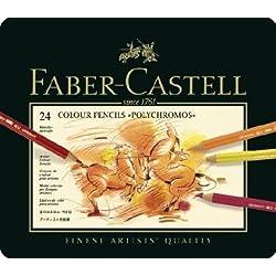 Faber-Castell–Faber-Castell lápices de Color Polychromos, Funda de Metal