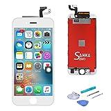 SANKA Ecran LCD pour iPhone 6S Plus, 5.5', Retina 3D Tactile Écran Vitre Display Digitizer Kit de Réparation Complet - Blanc (Free outils Inclus)
