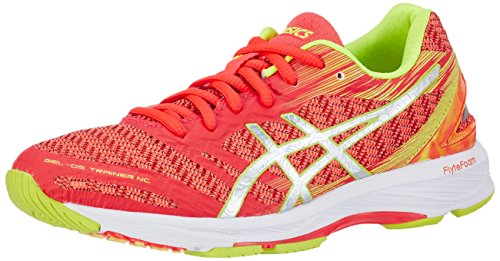 Asics Damen Gel-DS Trainer 22 NC Laufschuhe, Pink (Diva Pink/Silver/Safety Yellow), 42.5 EU (Damen-trainer)