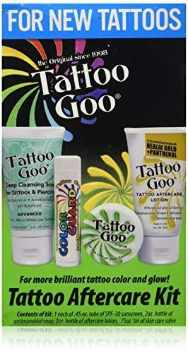 Tattoo Goo Tattoo Aftercare Kit - Includes Soap - New Formula, Tattoo Goo, Lotion, Color Guard by Tattoo Goo (Lotion Aftercare)