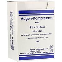 AUGENKOMPRESSEN 5,8x7 cm steril 25 St Kompressen preisvergleich bei billige-tabletten.eu