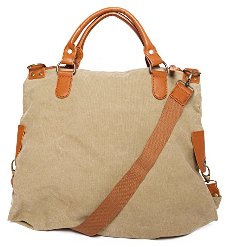 Handtasche mit Stern Tasche aus Canvas Schultertasche Umhängetasche Henkeltasche Shopper, Damen 00051018 Apfelgrün