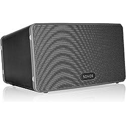 Sonos Play:3 Enceinte sans-fil multiroom wifi, haut-parleur hifi connecté pour diffuser votre musique préférée à partir de votre téléphone (iPhone, Android), tablette et ordinateur PC/Mac - Noir