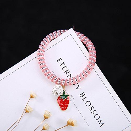 XXAICW Telefon Line Haar Kreis binden Haare Pferdeschwanz kleine frische Ornament Haar Seil...