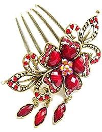 10x Frauen Haar Nadeln Elegant Haarschmuck mit Silber Blumen Verschönerung