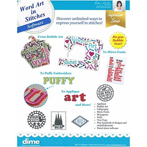 Designs in Machine Embroidery Word Art in Stitches Software by Dime -