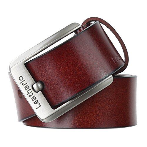 Leathario Hombres Cinturón de Cuero Correa Cinturones de Piel Diseña