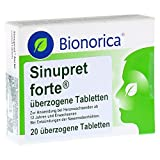 SINUPRET forte überzogene Tabletten 20 St Überzogene Tabletten