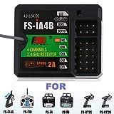 FS-IA4B 4 Kanal Empfänger Telemetrie Empfänger 2,4 GHz Für RC Sender FS-I10 FS-I6 FS-GT2 FS-GT2G FS-IT4S FS-I6S (Farbe: Schwarz)