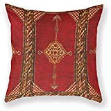 Dana34Malory cojín Persa Alfombra Oriental Antiguo Decorativo de Algodón y Lino Cuadrado de 45,7x 45,7cm