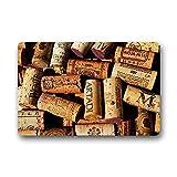 Heymat Custom Wein Korken Tür/Outdoor Decor Fußmatte-Teppich Teppiche Fußmatte Top Stoff und Rutschfeste Rückseite aus Gummi Eingänge Teppich, 59,9cm L x 39,9cm W