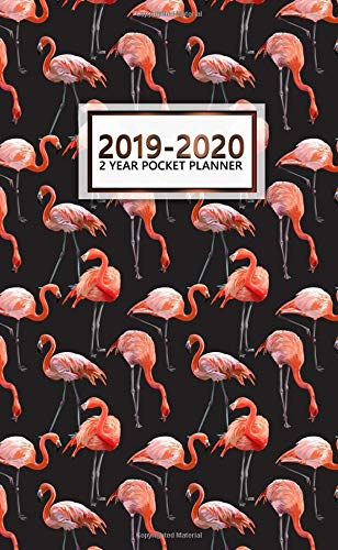 2019-2020 2 Year Pocket Planner: Pretty Monthly Flamingo Planner with Phone Book, Password Log and Notebook. Nifty Black Pocket Planner, Agenda and Organizer. por Nifty Planners