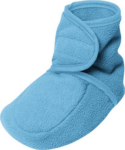 Playshoes Unisex Baby Fleeceschuhe Krabbel-& Hausschuhe Türkis (aquablau 23)