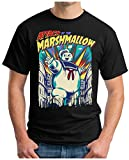 OM3 - MARSHMALLOW-ATTACK - T-Shirt STAY TUFF Mutant Marschmallow Man GHOST COMIC GAME USA FUN GEEK, XXL, Schwarz