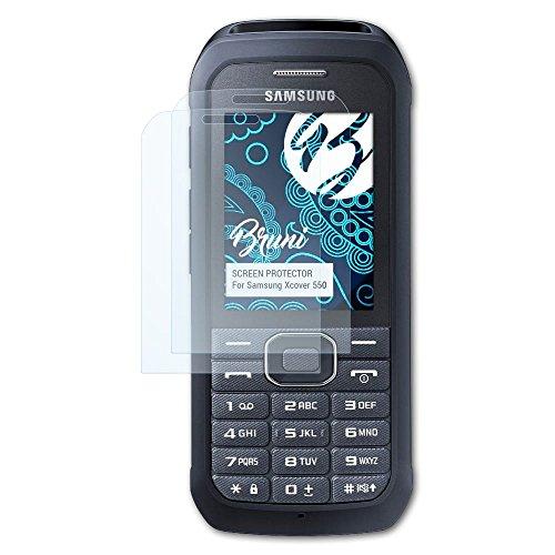 Bruni Schutzfolie für Samsung Xcover 550 Folie, glasklare Bildschirmschutzfolie (2X)