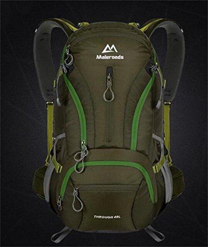 Outdoor-Rucksack Wandertasche Männer und Frauen Taschen 40L Bergsteigen Armeegrün