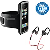 #6: Captcha One Plus 3T Compatible Certified Sports Armband Gym Running Jog Case Arm Holder for Cell Phone With QC-10 Jogger Sports Bluetooth Headset V4.1 With Mic (1 Year Warranty)