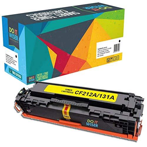 Do it Wiser Cartuchos de Tóner Compatibles con HP 131A 131X HP Color Laserjet CP1515n CP1215 M276nw M251n M251nw CP1217 CP1510 CP1514 CP1515n CP1518ni CF212A (Amarillo)