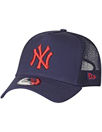 best service 60407 040fb New Era League Essential Hot Red Cap 9Forty Trucker NY Yankees Night Shift  AFrame T-Shirt, navy, One size (Manufacturer Size  OSFA)