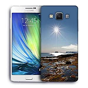 Snoogg Sunrise In The Sea Designer Protective Phone Back Case Cover For Samsung Galaxy A7