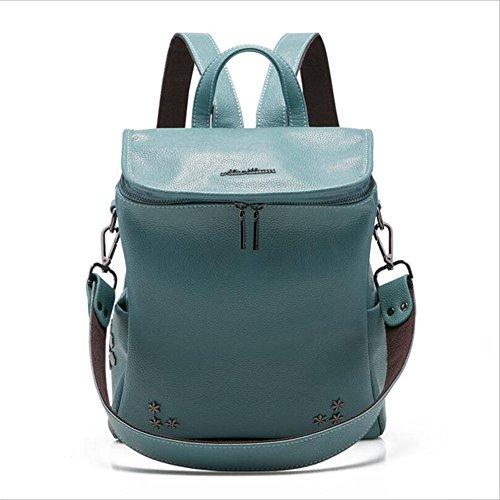 HQYSS Borse donna Zaino stile college donne rivestono di pelle a tracolla borsa borsa da viaggio Bucket Bag Borsa a tracolla , black blue