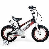 Kinderfahrräder YANFEI Kinder Fahrrad Aluminium 12 Zoll Kinderwagen Geburtstagsgeschenk Kindergeschenk (Farbe : Rot)